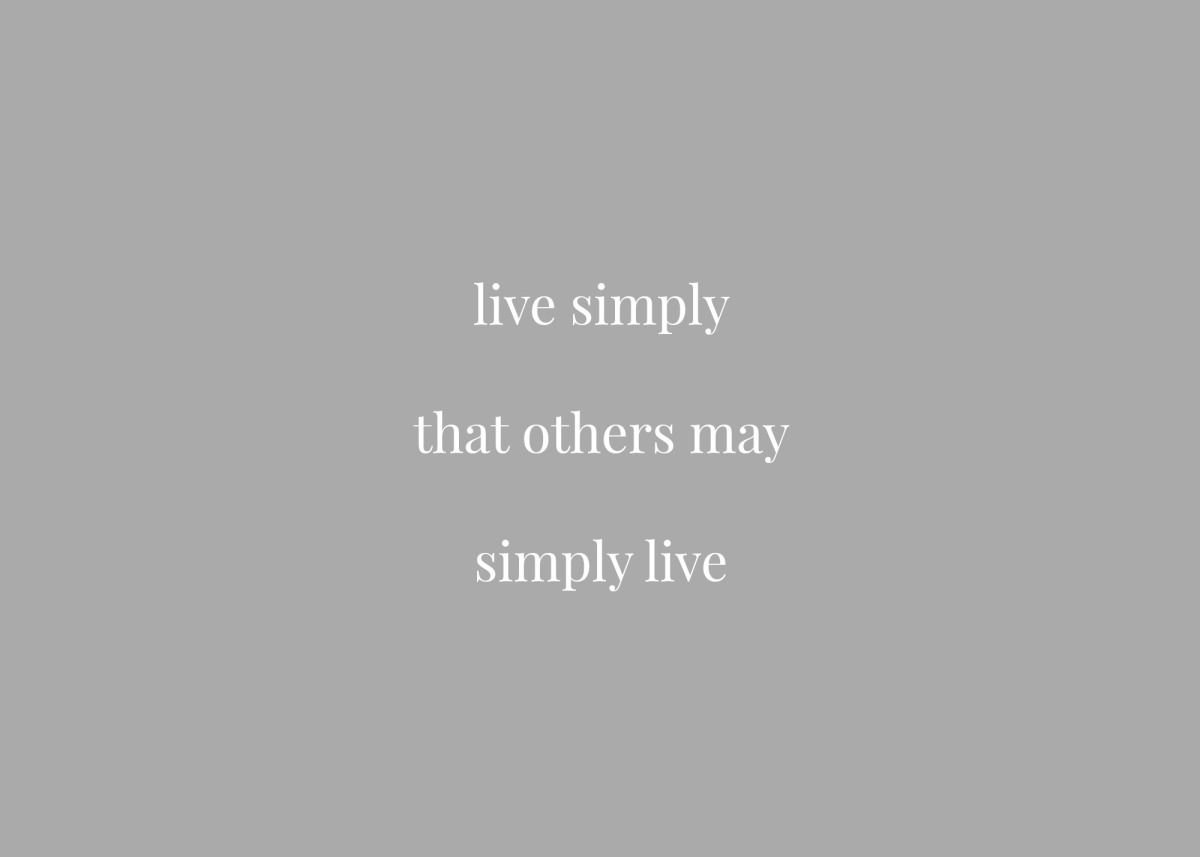 Living Simply: a look at a life of simplicity