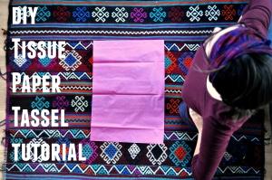 diy tissue paper tassel tutorial