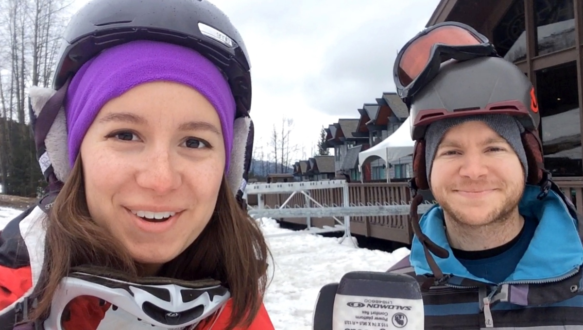 The Murphmans go skiing at Alyeska Resort in Girdwood, Alaska
